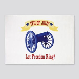 *4th Of July* Let Freedom Ring! 5'x7'Area Rug