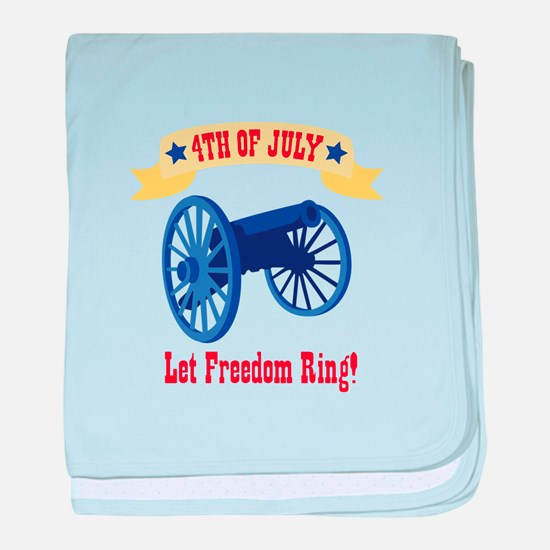 *4th Of July* Let Freedom Ring! baby blanket