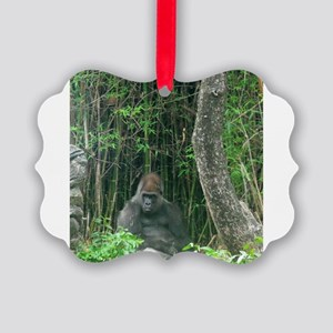 Thinking Gorilla Ornament