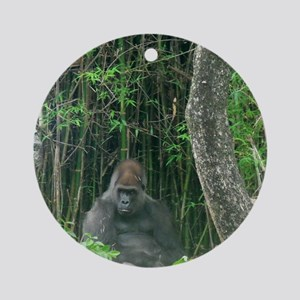Thinking Gorilla Ornament (Round)