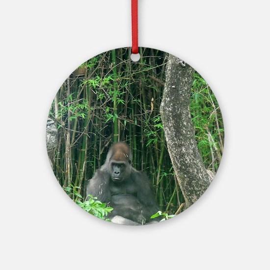 Thinking Gorilla Ornament (Round)
