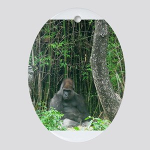 Thinking Gorilla Ornament (Oval)