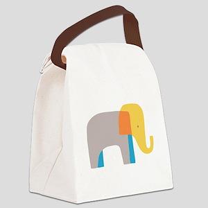 Artsy Elephant Canvas Lunch Bag