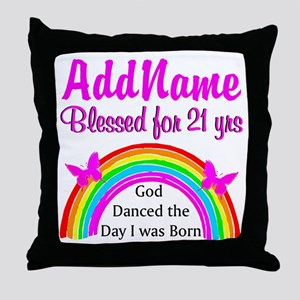 21ST BIRTHDAY Throw Pillow
