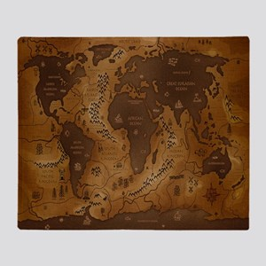 World Map I Throw Blanket