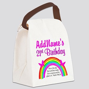 CELEBRATE 21 Canvas Lunch Bag