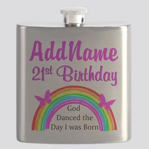 BLESSED 21ST Flask