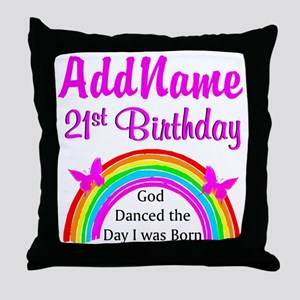 BLESSED 21ST Throw Pillow
