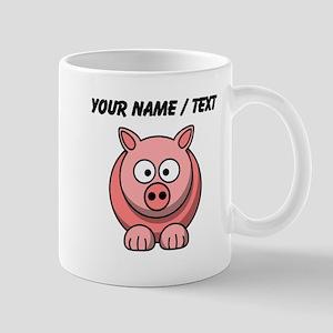 Custom Pink Pig Cartoon Mugs