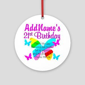 21ST BIRTHDAY Ornament (Round)