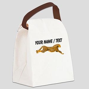 Custom Cheetah Canvas Lunch Bag