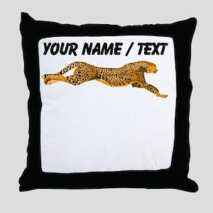 Custom Cheetah Throw Pillow