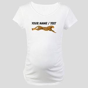 Custom Cheetah Maternity T-Shirt