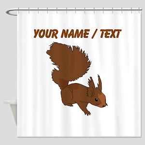 Custom Brown Squirrel Shower Curtain