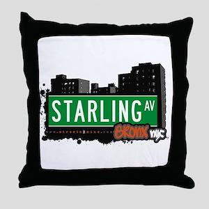 Starling Av, Bronx, NYC  Throw Pillow