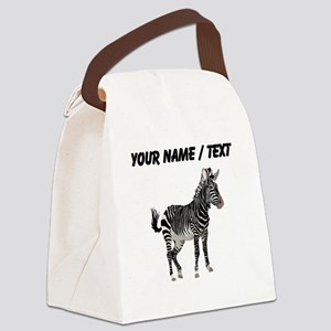 Custom Zebra Canvas Lunch Bag