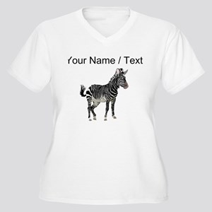 Custom Zebra Plus Size T-Shirt