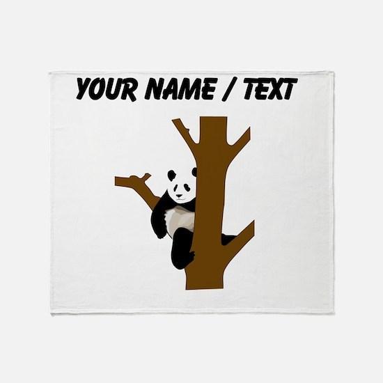 Custom Giant Panda In Tree Throw Blanket