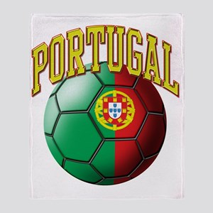 Flag of Portugal Soccer Ball Throw Blanket