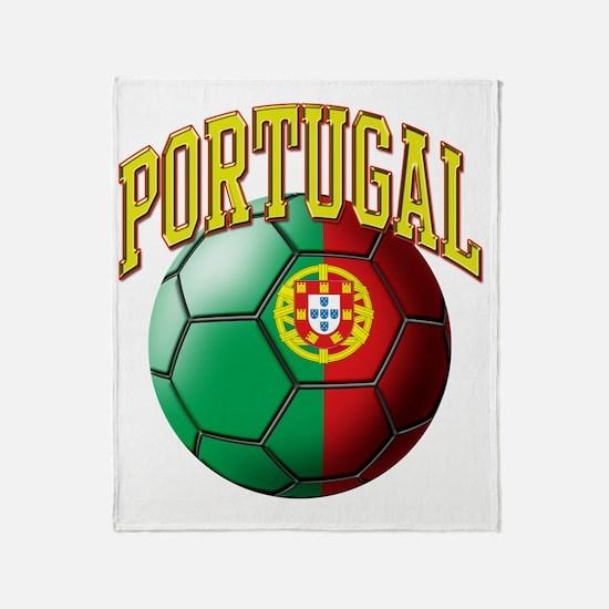 Flag of Portugal Soccer Ball Throw Blanket
