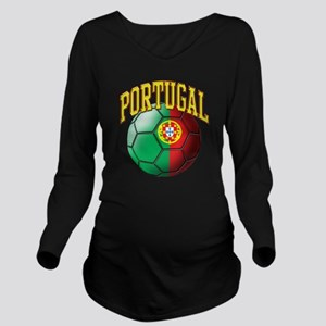 Flag of Portugal Soc Long Sleeve Maternity T-Shirt