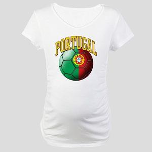 Flag of Portugal Soccer Ball Maternity T-Shirt