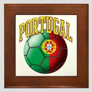 Flag of Portugal Soccer Ball Framed Tile