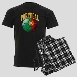 Flag of Portugal Soccer Ball Men's Dark Pajamas