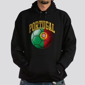 Flag of Portugal Soccer Ball Hoodie (dark)