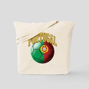 Flag of Portugal Soccer Ball Tote Bag