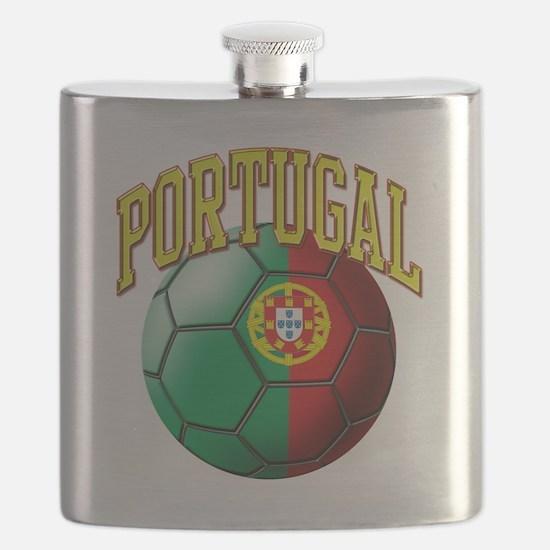 Flag of Portugal Soccer Ball Flask