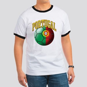 Flag of Portugal Soccer Ball Ringer T