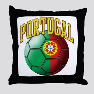 Flag of Portugal Soccer Ball Throw Pillow