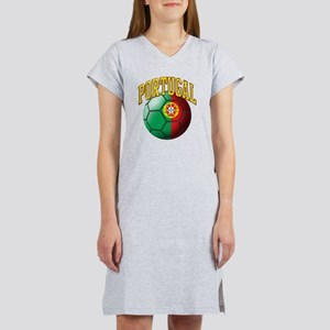 Flag of Portugal Soccer Ball Women's Nightshirt