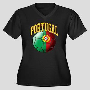 Flag of Port Women's Plus Size V-Neck Dark T-Shirt