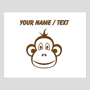 Custom Brown Monkey Face Poster Design