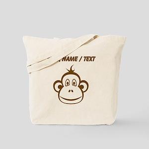 Custom Brown Monkey Face Tote Bag