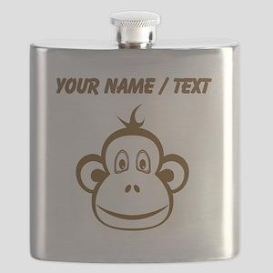 Custom Brown Monkey Face Flask