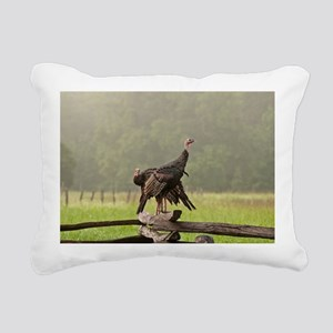 Wild Turkeys-Cades Cove Rectangular Canvas Pillow