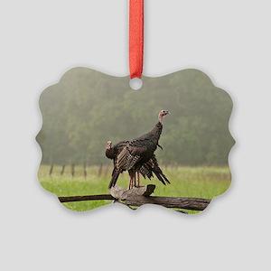 Wild Turkeys-Cades Cove Picture Ornament