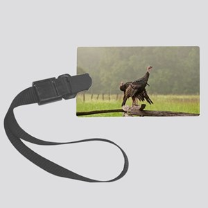 Wild Turkeys-Cades Cove Large Luggage Tag