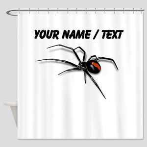 Custom Red Back Spider Shower Curtain