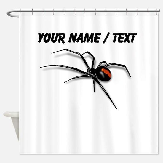 Custom Red Back Spider Shower Curtain