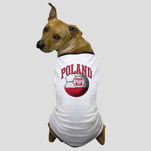 Flag of Poland Soccer Ball Dog T-Shirt