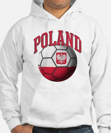 Flag of Poland Soccer Ball Hoodie