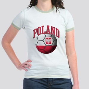 Flag of Poland Soccer Ball Jr. Ringer T-Shirt