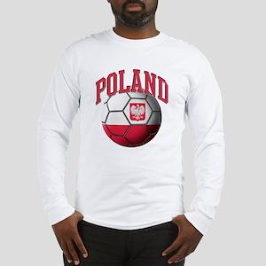 Flag of Poland Soccer Ball Long Sleeve T-Shirt