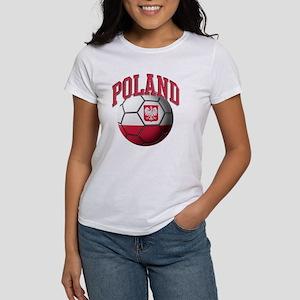 Flag of Poland Soccer Ball Women's T-Shirt