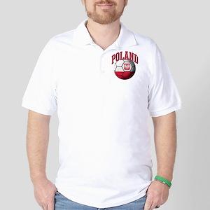 Flag of Poland Soccer Ball Golf Shirt