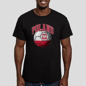 Flag of Poland Soccer  Men's Fitted T-Shirt (dark)